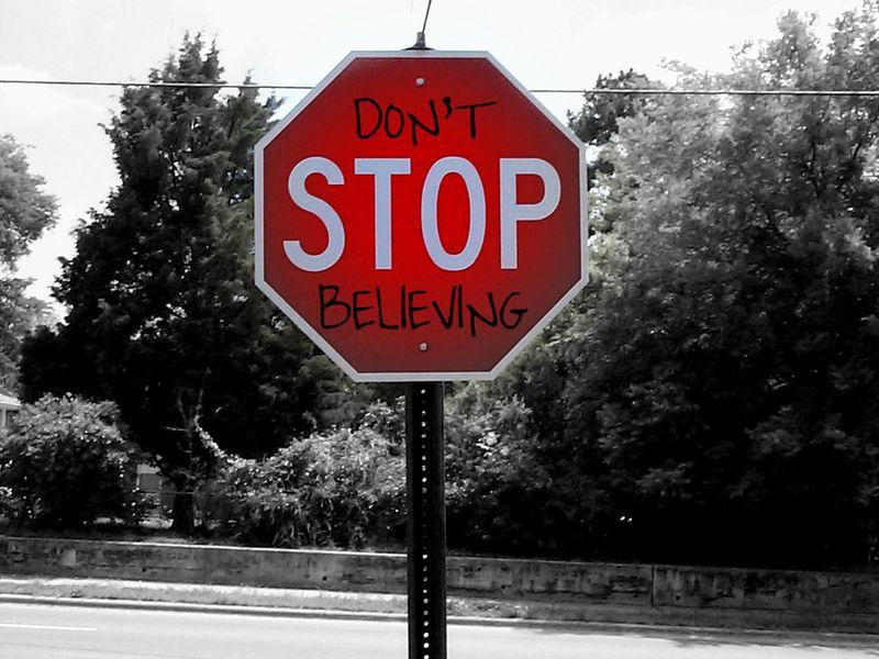 Stop sign believe